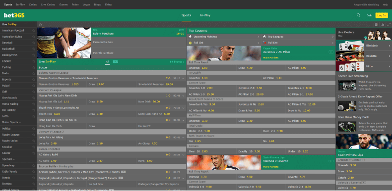 Bet365 Home Page