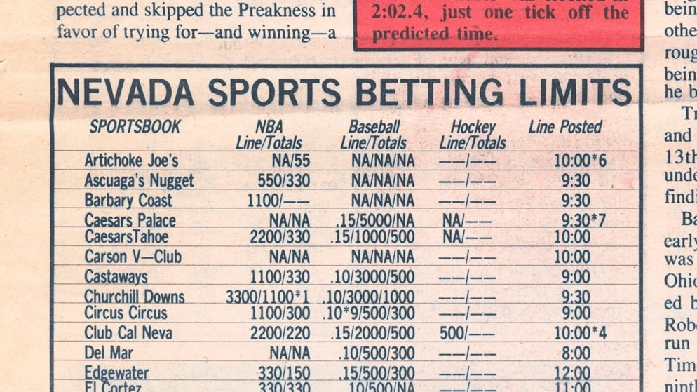 Sports Betting Limits Designed To Limit The House's Damage